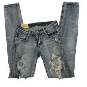 Machine | Bling Distressed Jeans